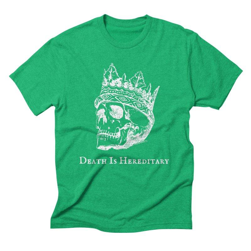 Death Is Hereditary (White Ink) Men's Triblend T-Shirt by Dark Helix's Artist Shop