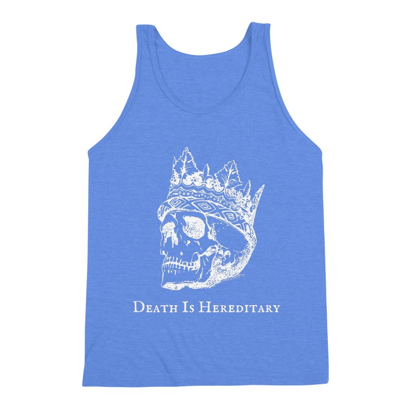 Death Is Hereditary (White Ink) Men's Triblend Tank by Dark Helix's Artist Shop