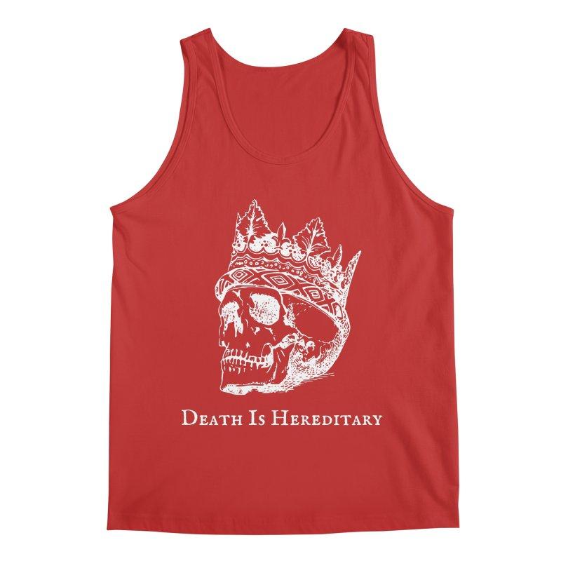 Death Is Hereditary (White Ink) Men's Regular Tank by Dark Helix's Artist Shop