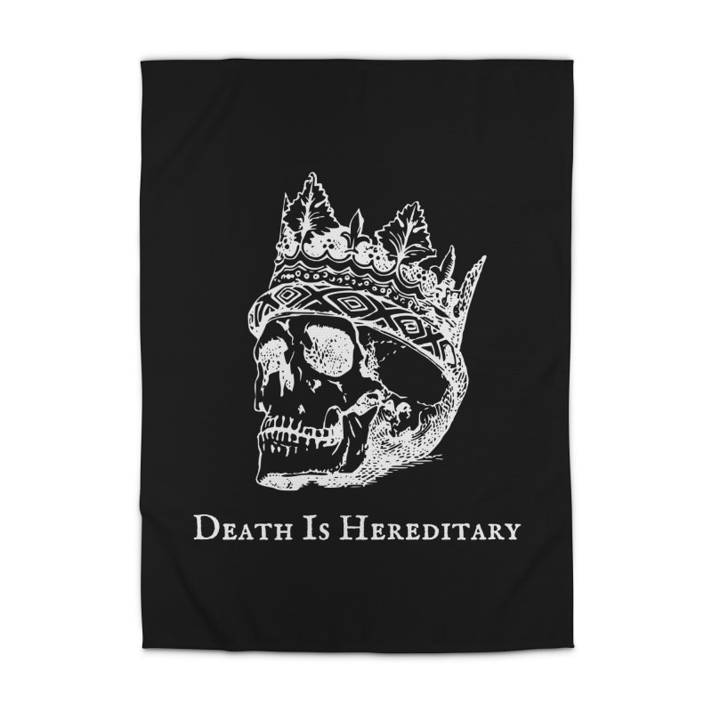 Death Is Hereditary (White Ink) Home Rug by Dark Helix's Artist Shop