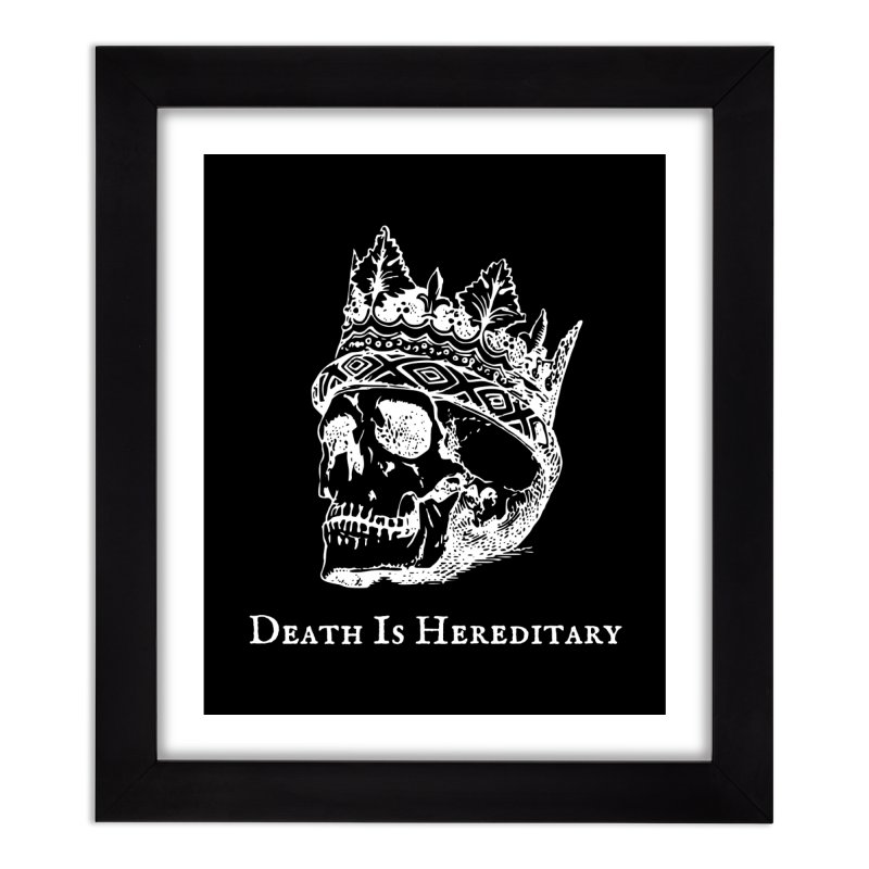 Death Is Hereditary (White Ink) Home Framed Fine Art Print by Dark Helix's Artist Shop