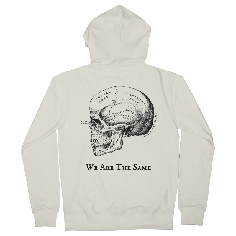 We Are The Same (Black Ink) Men's French Terry Zip-Up Hoody by Dark Helix's Artist Shop