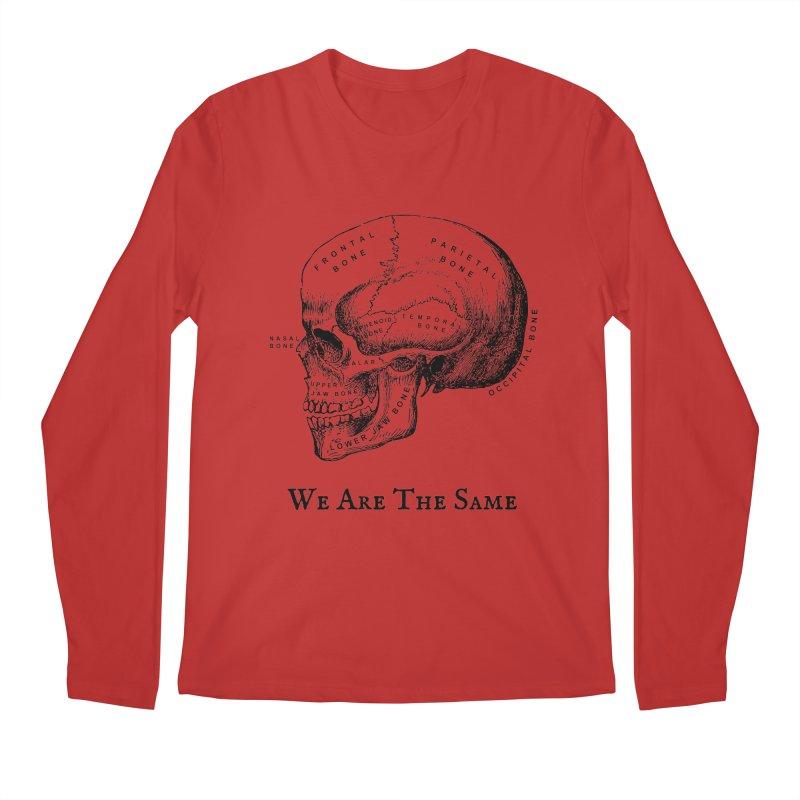 We Are The Same (Black Ink) Men's Longsleeve T-Shirt by Dark Helix's Artist Shop