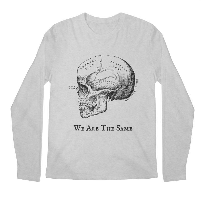 We Are The Same (Black Ink) Men's Regular Longsleeve T-Shirt by Dark Helix's Artist Shop