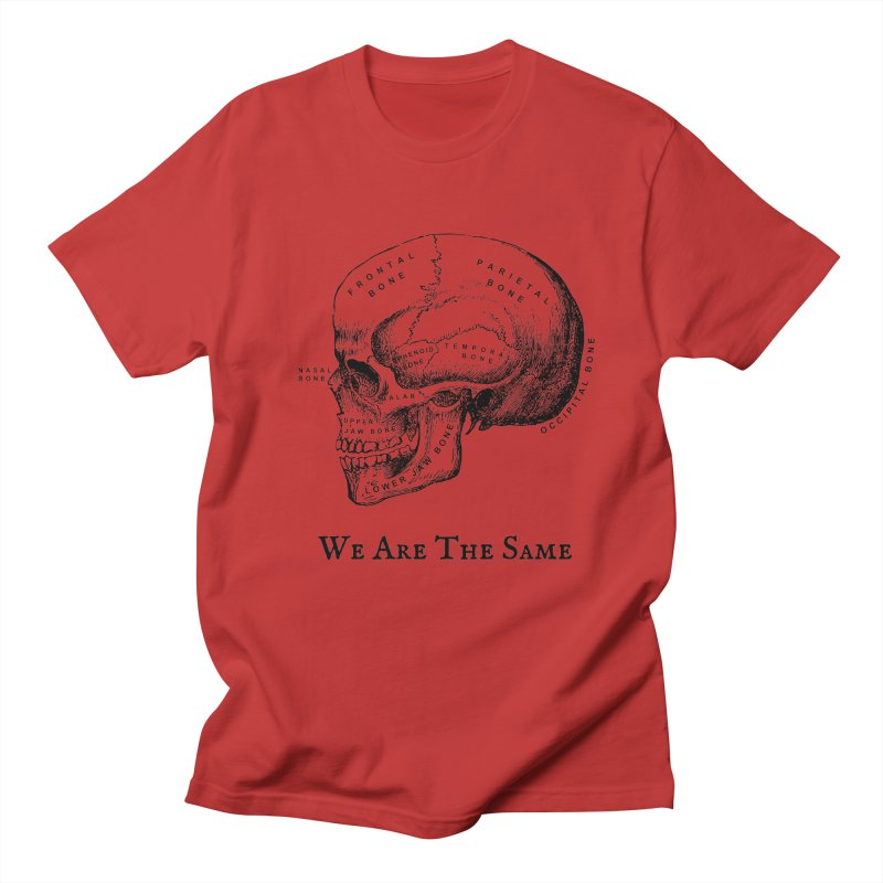 We Are The Same (Black Ink) Men's Regular T-Shirt by Dark Helix's Artist Shop