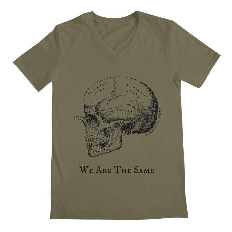 We Are The Same (Black Ink) Men's Regular V-Neck by Dark Helix's Artist Shop