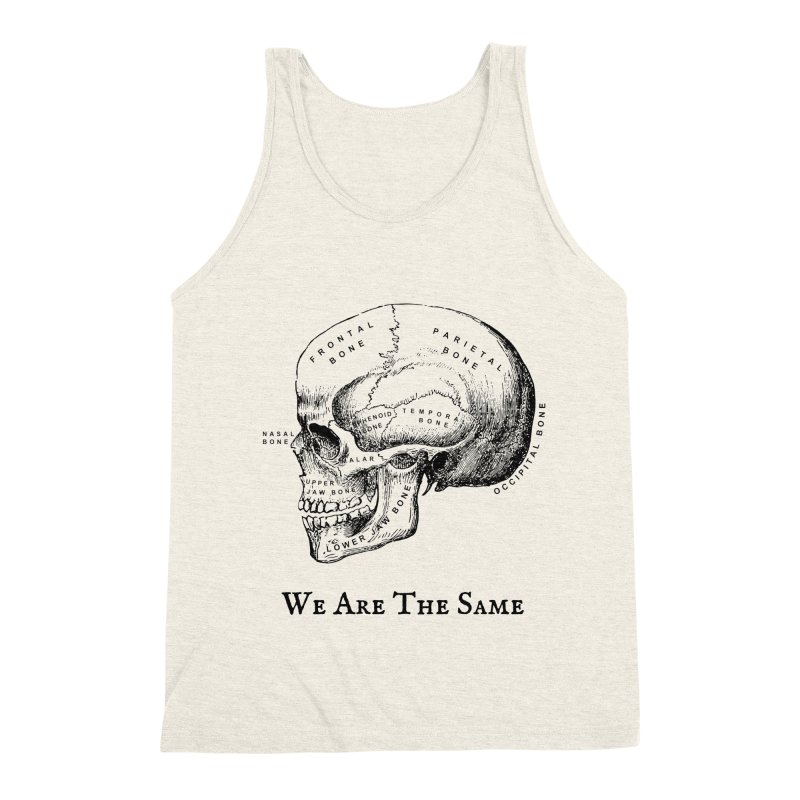 We Are The Same (Black Ink) Men's Triblend Tank by Dark Helix's Artist Shop