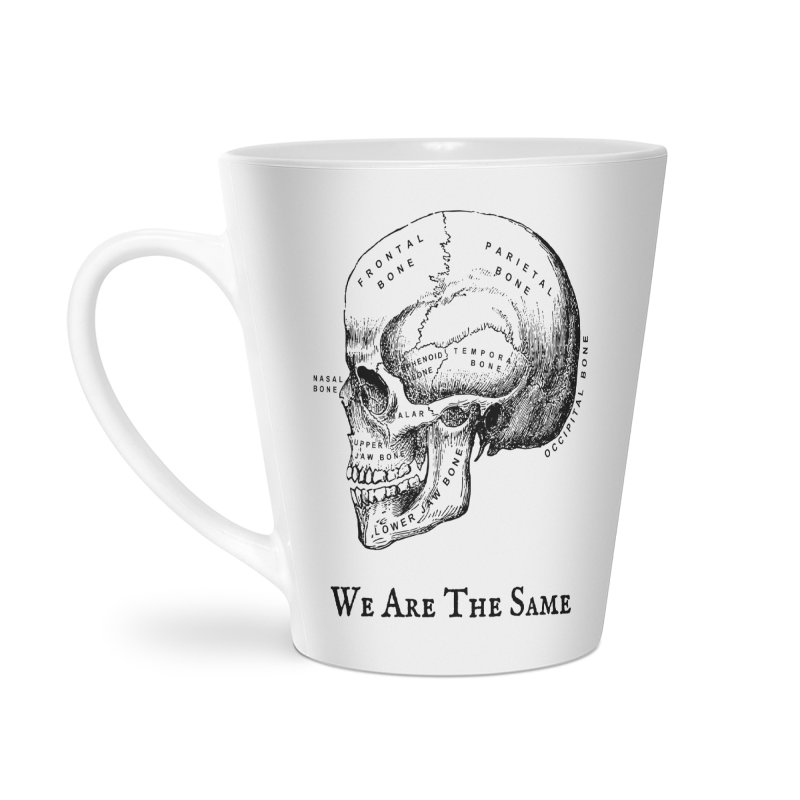 We Are The Same (Black Ink) Accessories Latte Mug by Dark Helix's Artist Shop
