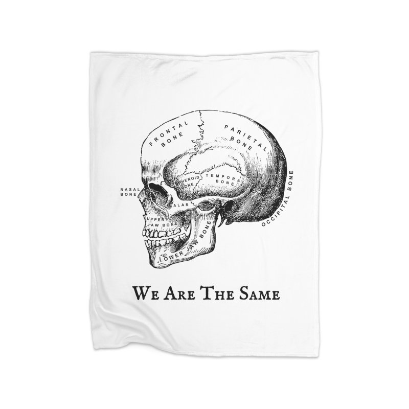 We Are The Same (Black Ink) Home Fleece Blanket Blanket by Dark Helix's Artist Shop