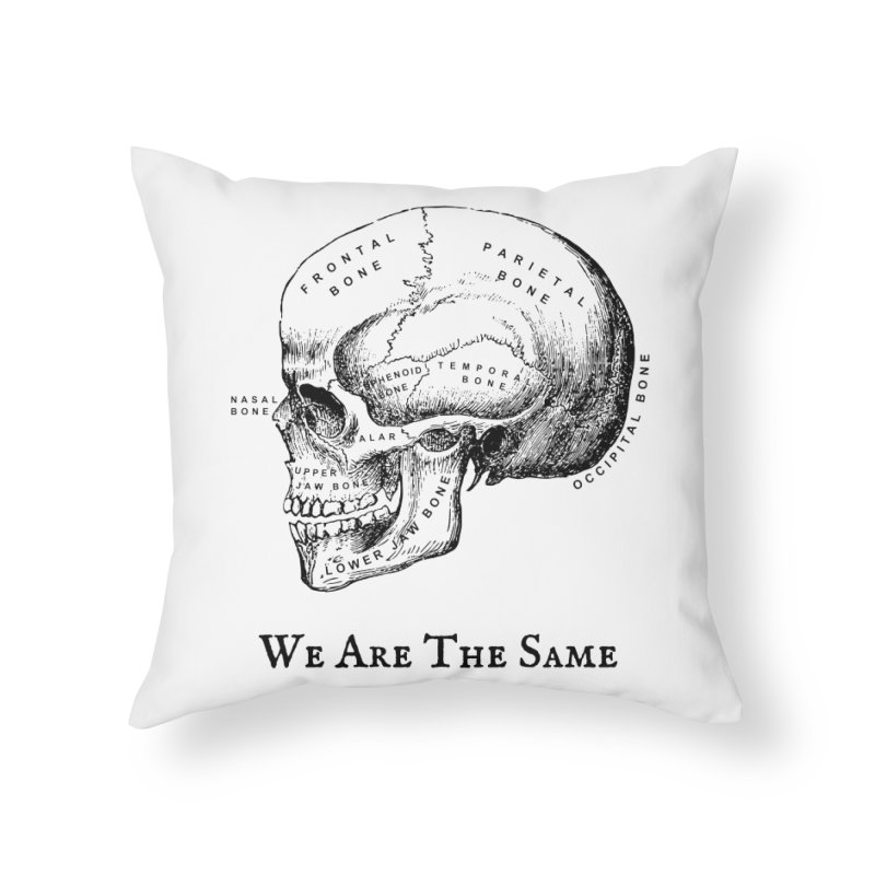 We Are The Same (Black Ink) Home Throw Pillow by Dark Helix's Artist Shop