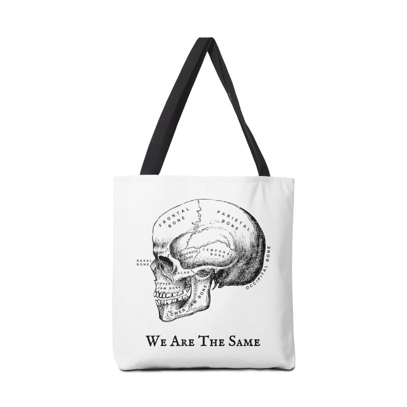 We Are The Same (Black Ink) Accessories Bag by Dark Helix's Artist Shop