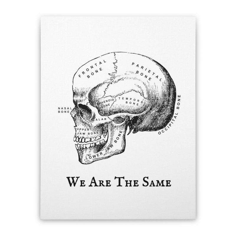 We Are The Same (Black Ink) Home Stretched Canvas by Dark Helix's Artist Shop