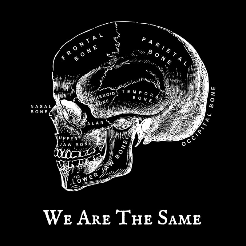 We Are The Same (White Ink) Men's V-Neck by Dark Helix's Artist Shop