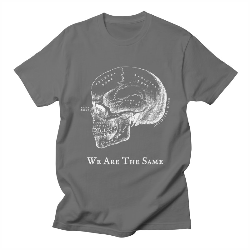 We Are The Same (White Ink) Men's T-Shirt by Dark Helix's Artist Shop