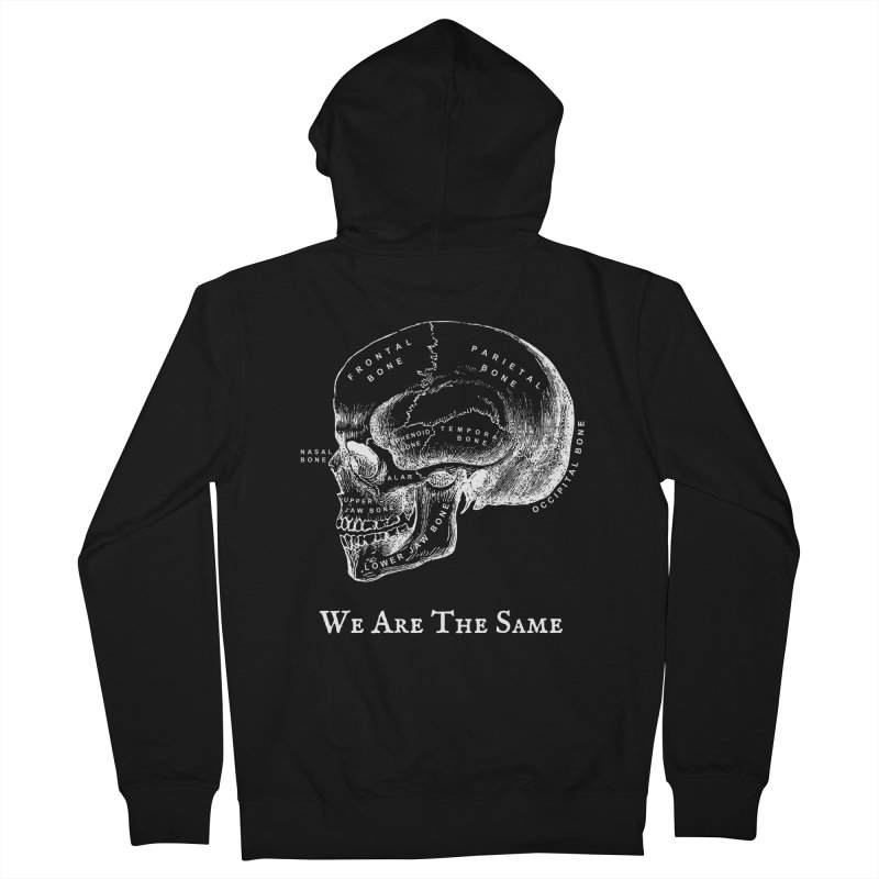 We Are The Same (White Ink) Women's Zip-Up Hoody by Dark Helix's Artist Shop