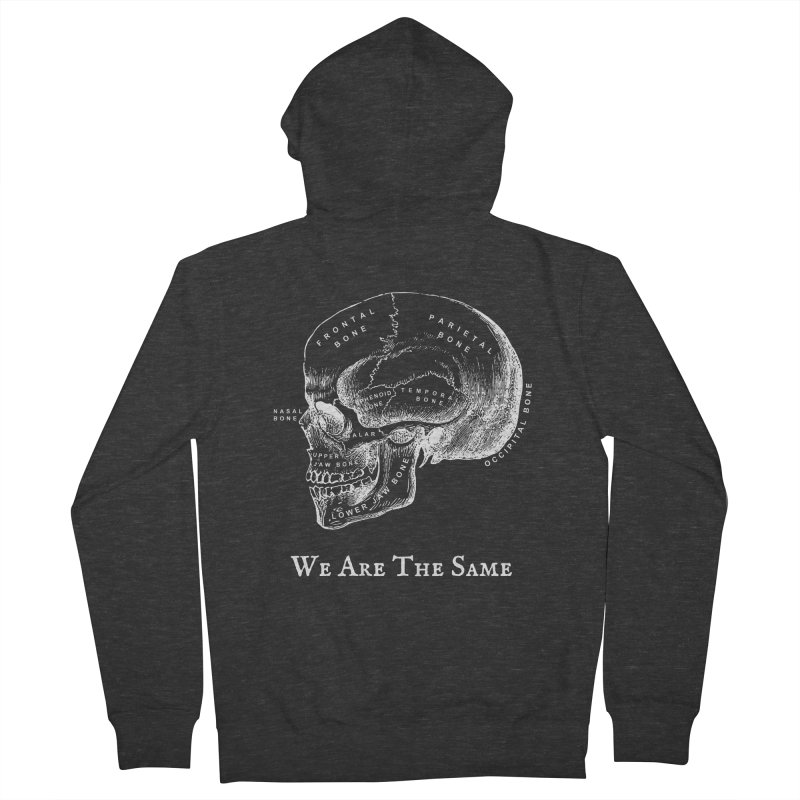 We Are The Same (White Ink) Men's French Terry Zip-Up Hoody by Dark Helix's Artist Shop