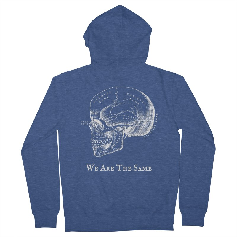 We Are The Same (White Ink) Men's Zip-Up Hoody by Dark Helix's Artist Shop