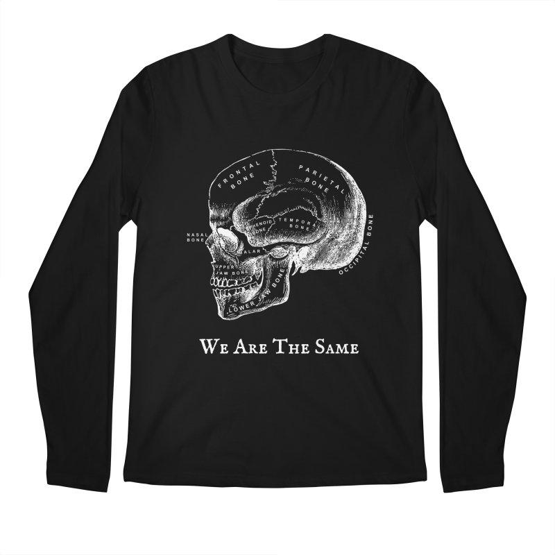 We Are The Same (White Ink) Men's Regular Longsleeve T-Shirt by Dark Helix's Artist Shop