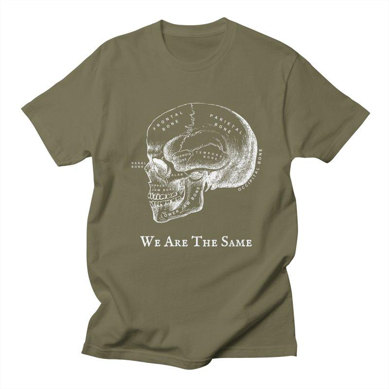 We Are The Same (White Ink) Men's Regular T-Shirt by Dark Helix's Artist Shop