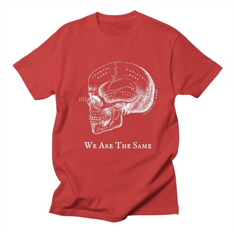 We Are The Same (White Ink) Women's Regular Unisex T-Shirt by Dark Helix's Artist Shop