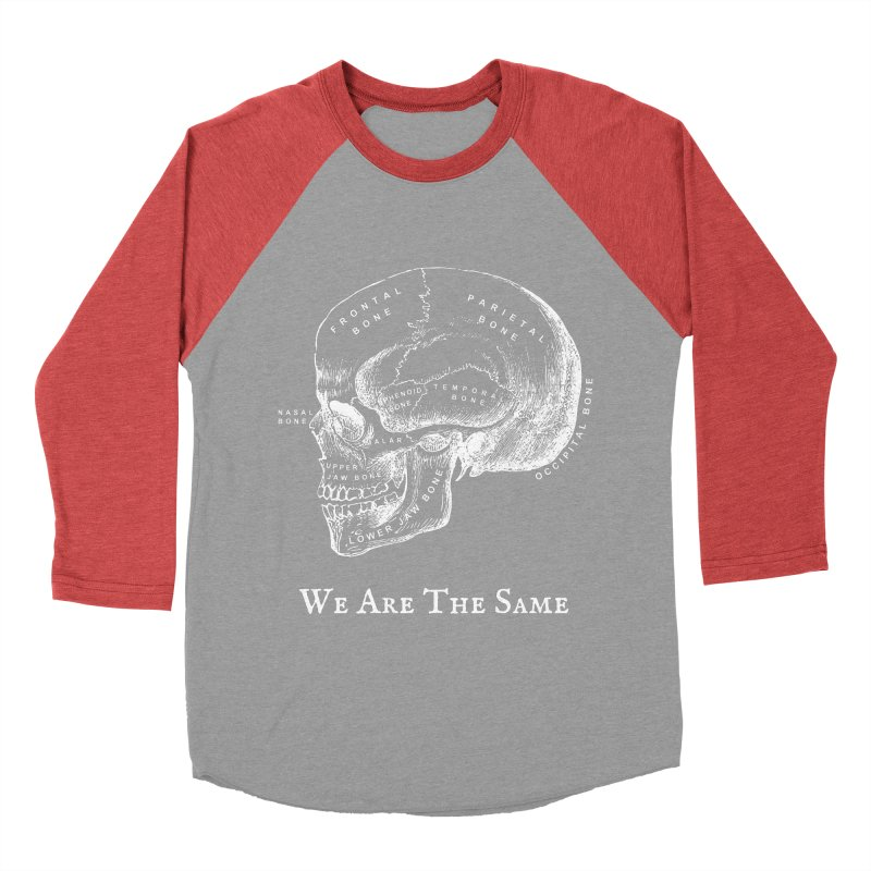 We Are The Same (White Ink) Men's Baseball Triblend Longsleeve T-Shirt by Dark Helix's Artist Shop