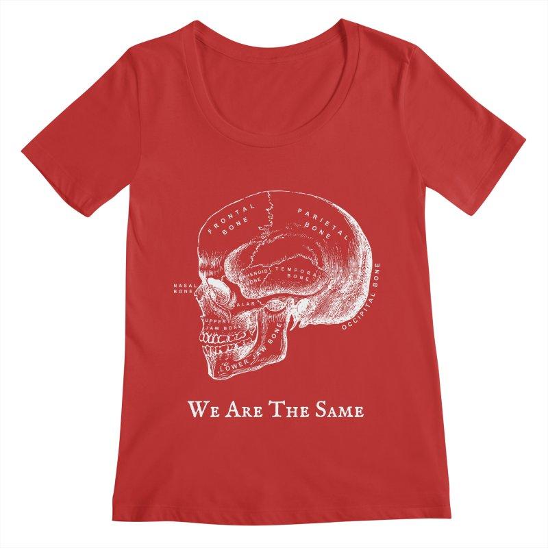 We Are The Same (White Ink) Women's Regular Scoop Neck by Dark Helix's Artist Shop