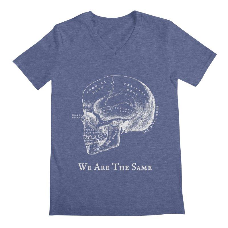 We Are The Same (White Ink) Men's Regular V-Neck by Dark Helix's Artist Shop