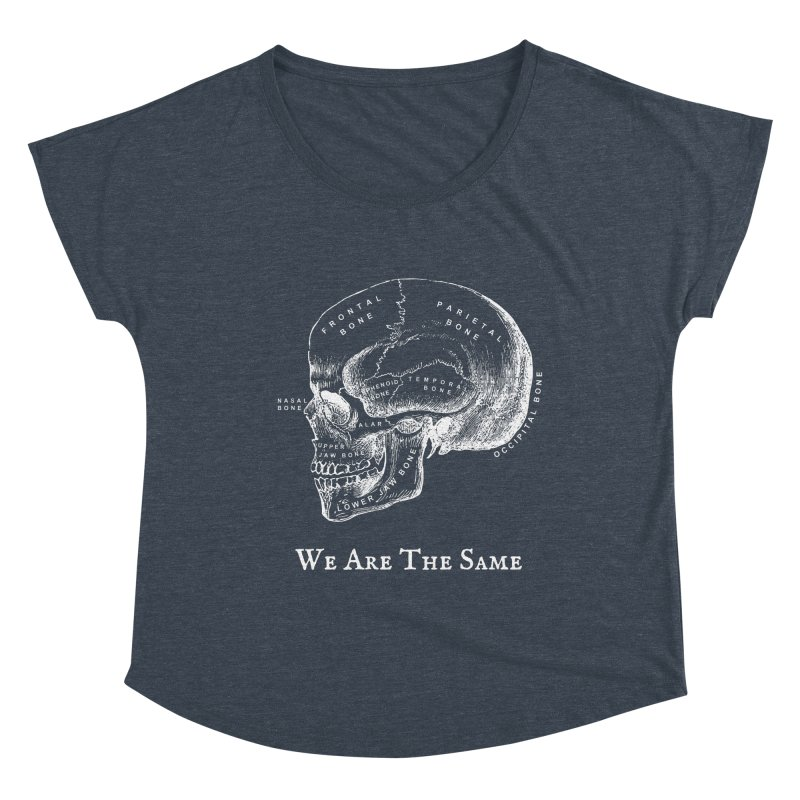 We Are The Same (White Ink) Women's Scoop Neck by Dark Helix's Artist Shop