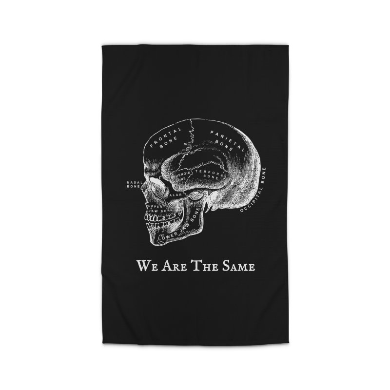We Are The Same (White Ink) Home Rug by Dark Helix's Artist Shop