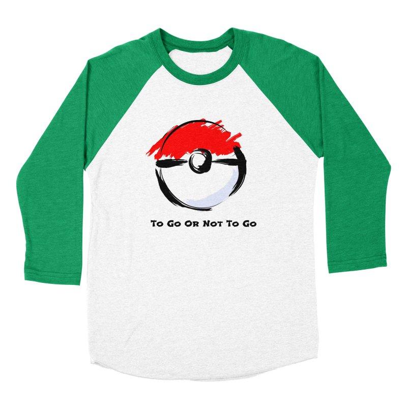 Poke Zen Men's Baseball Triblend Longsleeve T-Shirt by Dark Helix's Artist Shop
