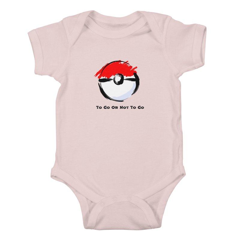 Poke Zen Kids Baby Bodysuit by Dark Helix's Artist Shop
