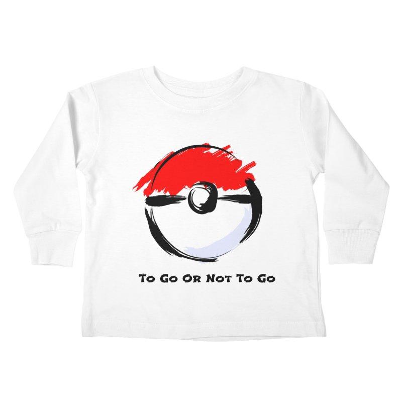 Poke Zen Kids Toddler Longsleeve T-Shirt by Dark Helix's Artist Shop