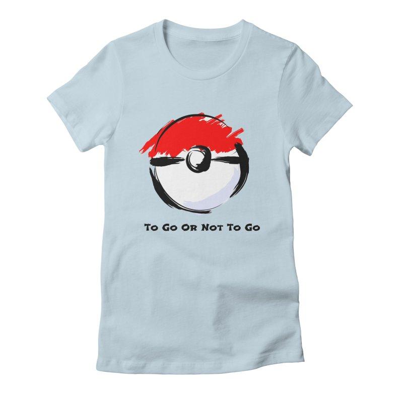 Poke Zen Women's Fitted T-Shirt by Dark Helix's Artist Shop