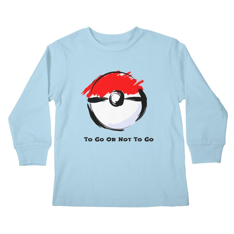 Poke Zen Kids Longsleeve T-Shirt by Dark Helix's Artist Shop