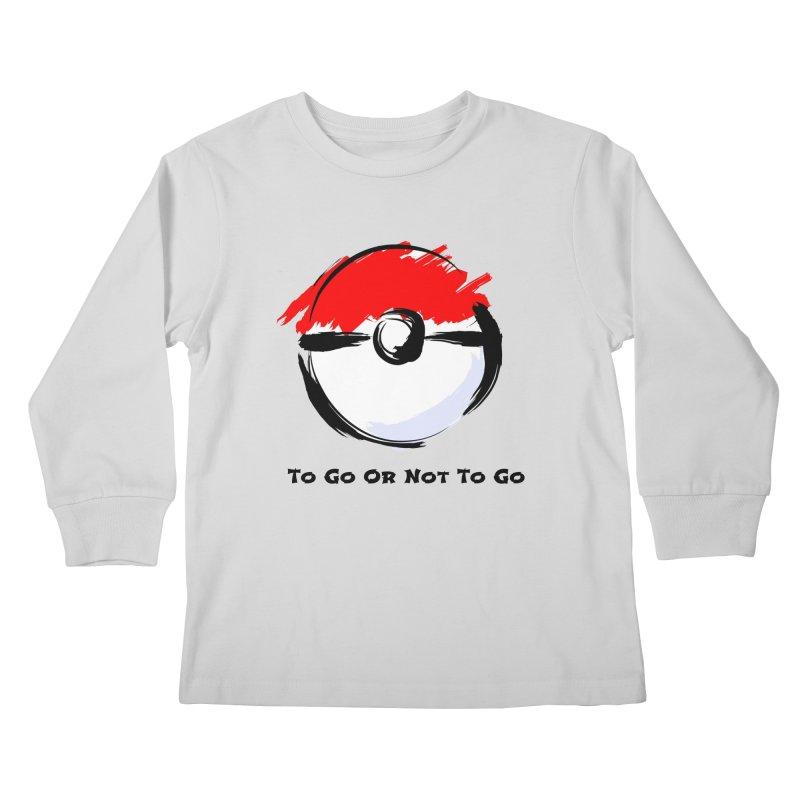 Poke Zen Kids Longsleeve T-Shirt by Dark Helix's Artist Shop
