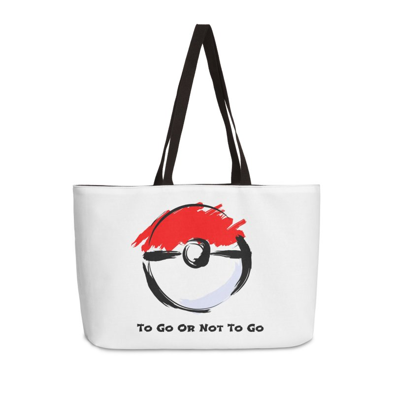 Poke Zen Accessories Weekender Bag Bag by Dark Helix's Artist Shop