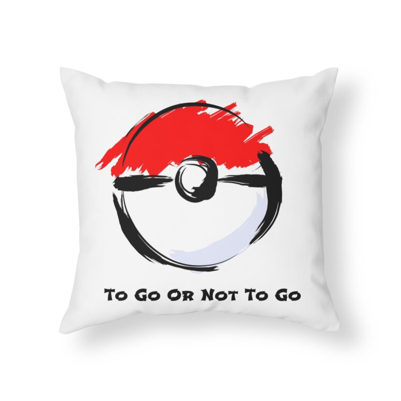 Poke Zen Home Throw Pillow by Dark Helix's Artist Shop