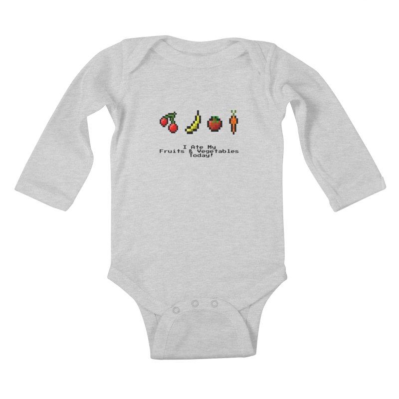Digital Diet Kids Baby Longsleeve Bodysuit by Dark Helix's Artist Shop