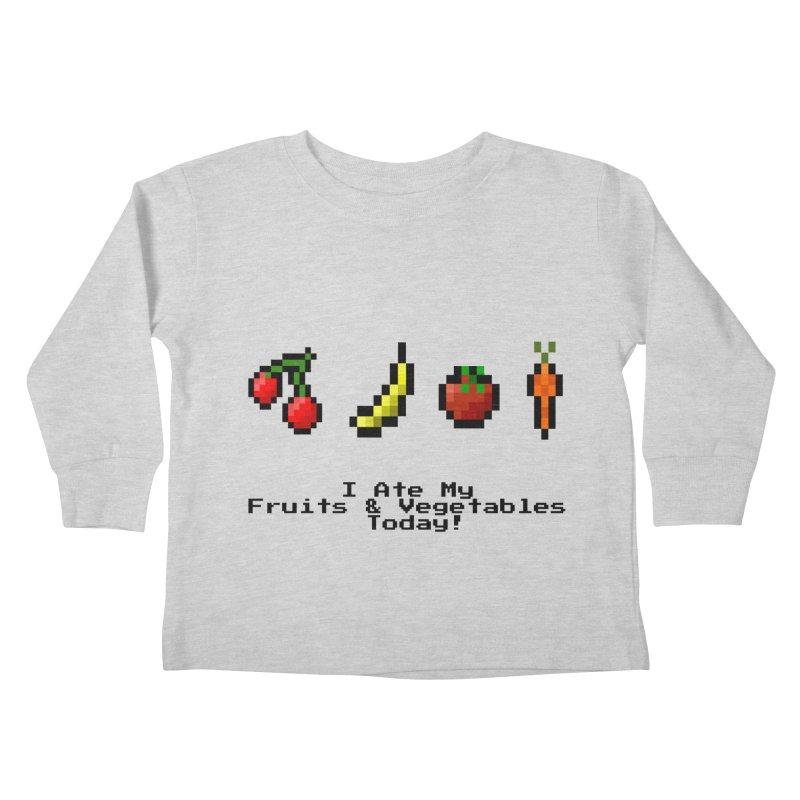 Digital Diet Kids Toddler Longsleeve T-Shirt by Dark Helix's Artist Shop