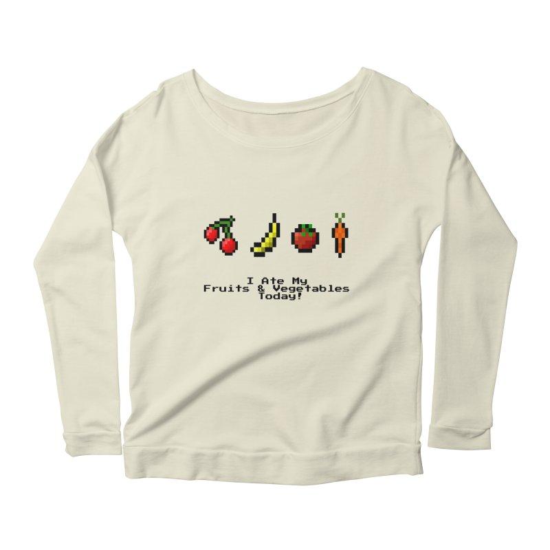 Digital Diet Women's Scoop Neck Longsleeve T-Shirt by Dark Helix's Artist Shop