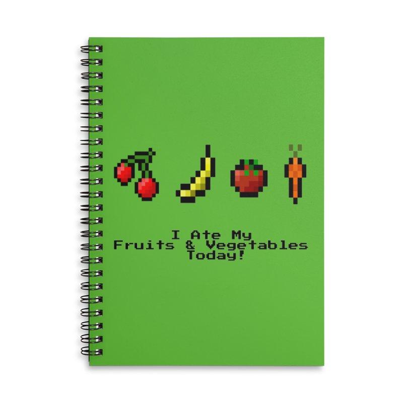 Digital Diet Accessories Lined Spiral Notebook by Dark Helix's Artist Shop