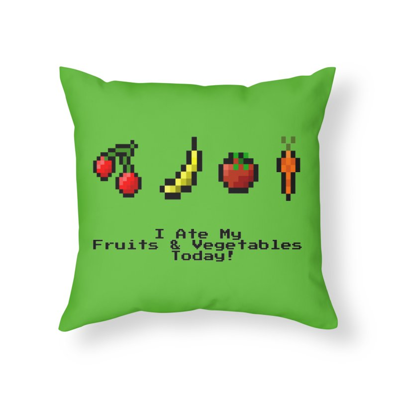 Digital Diet Home Throw Pillow by Dark Helix's Artist Shop