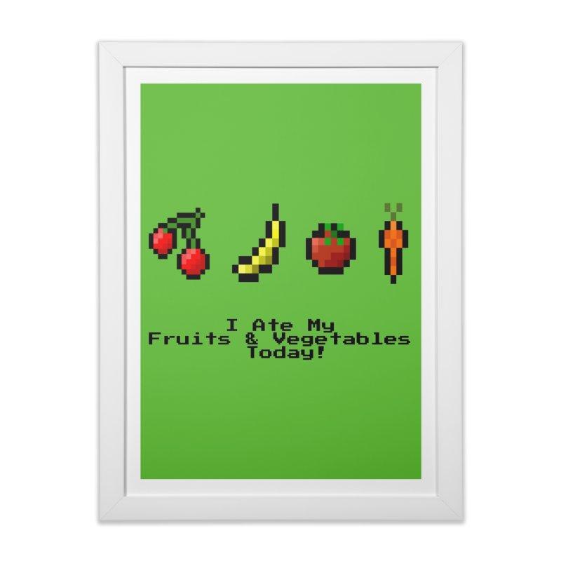 Digital Diet Home Framed Fine Art Print by Dark Helix's Artist Shop