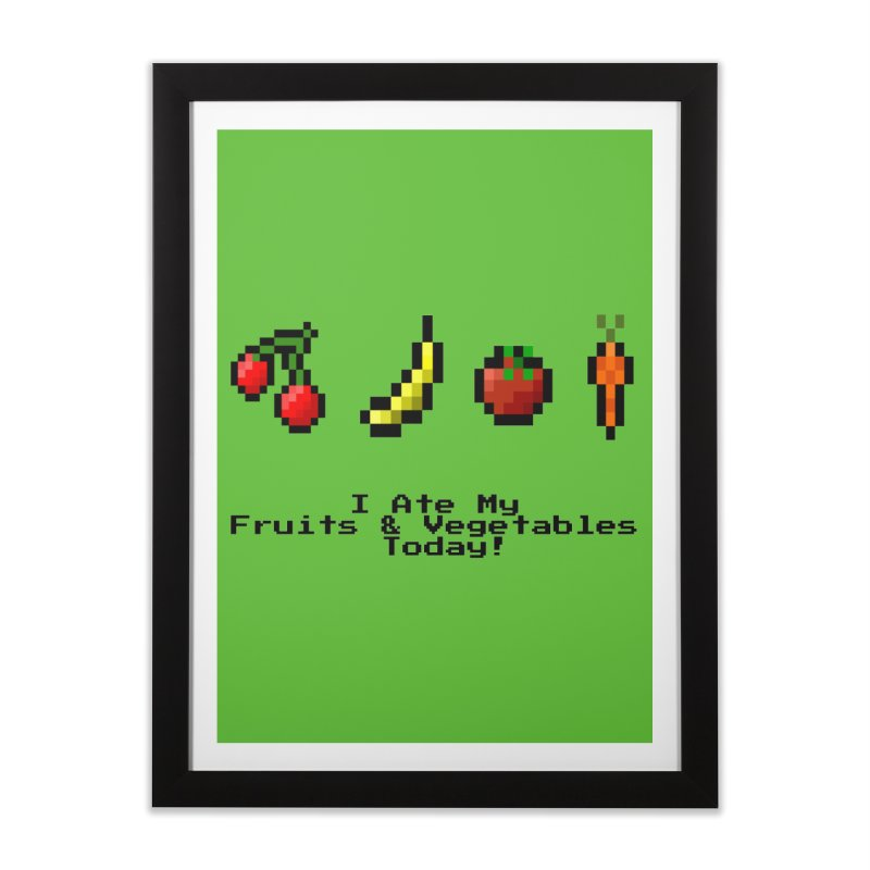 Digital Diet Home Framed Fine Art Print by Dark Helix's Artist Shop