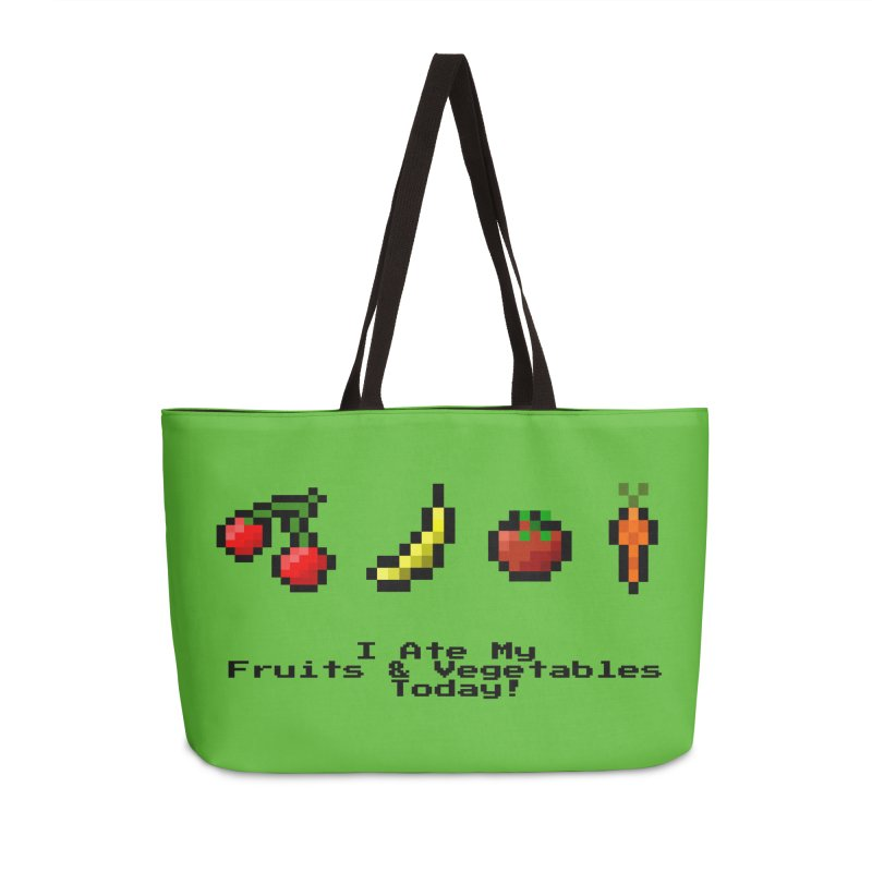 Digital Diet Accessories Weekender Bag Bag by Dark Helix's Artist Shop