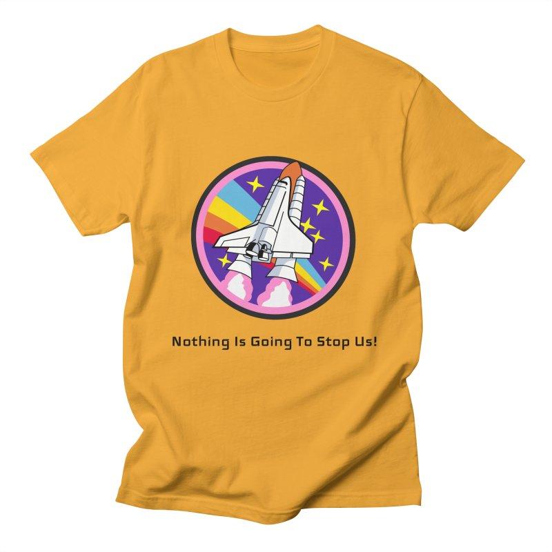 Optimistic Rocket Men's T-Shirt by Dark Helix's Artist Shop