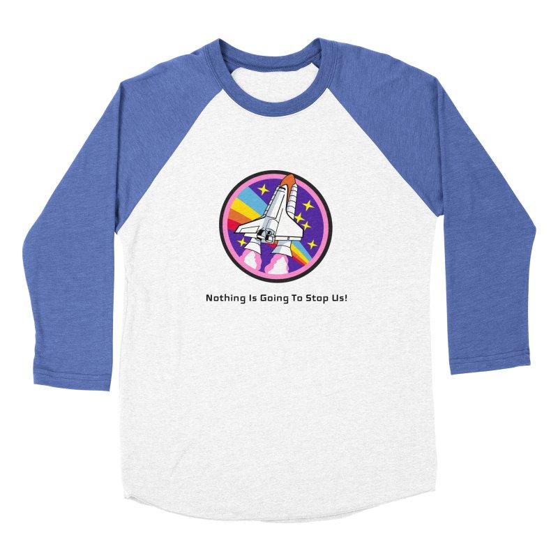 Optimistic Rocket Men's Baseball Triblend Longsleeve T-Shirt by Dark Helix's Artist Shop