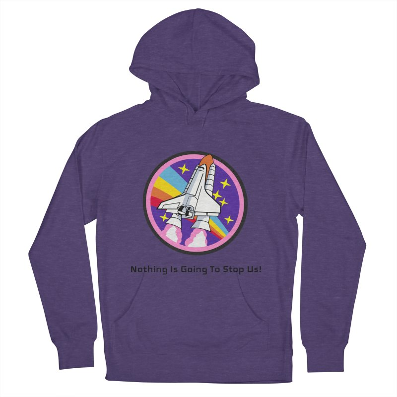 Optimistic Rocket Women's French Terry Pullover Hoody by Dark Helix's Artist Shop