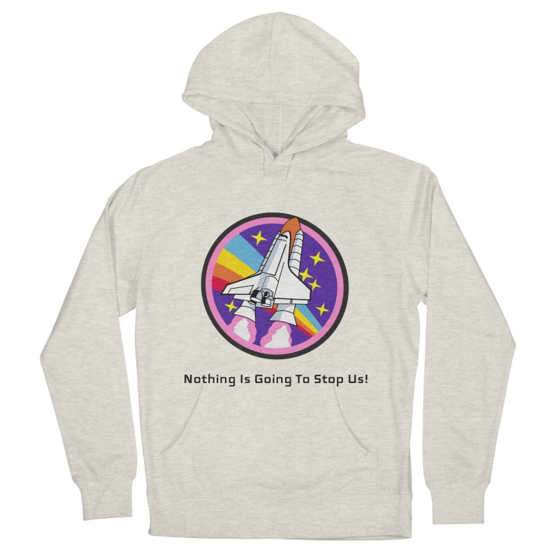 Optimistic Rocket Men's French Terry Pullover Hoody by Dark Helix's Artist Shop