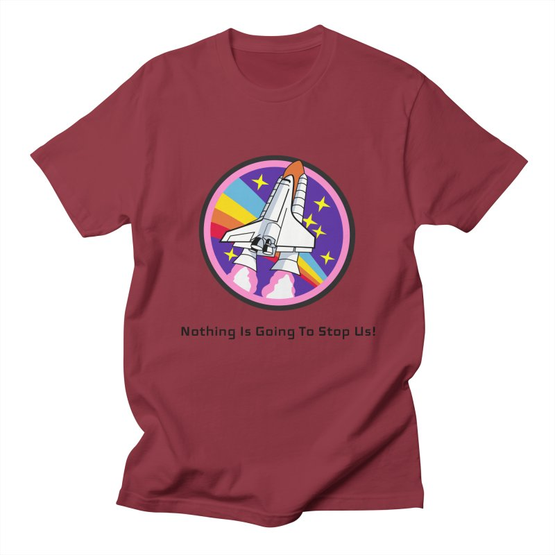 Optimistic Rocket Men's T-Shirt by Dark Helix's Artist Shop